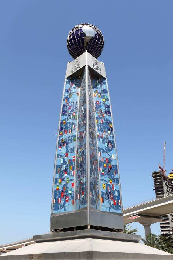 Fléau de World Trade Center de Dubaï photos libres de droits