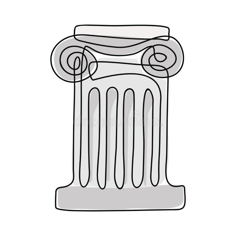 Fléau du grec ancien illustration libre de droits