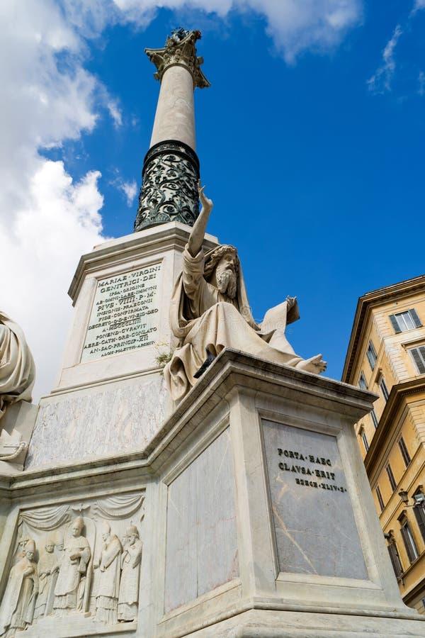 Fléau impeccable (Colonna Dell'immacolata) à Rome image libre de droits
