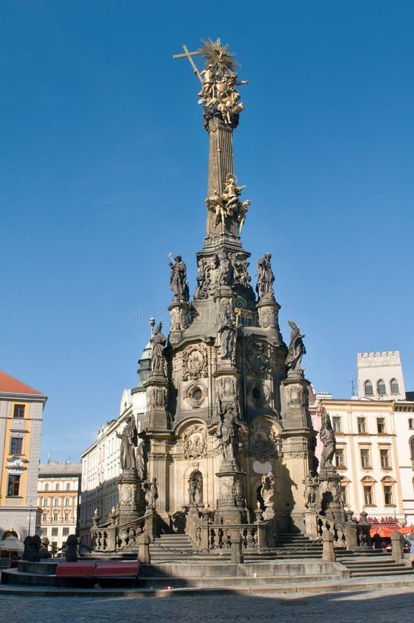 Fléau (pestilentiel) de trinité sainte dans Olomouc image stock