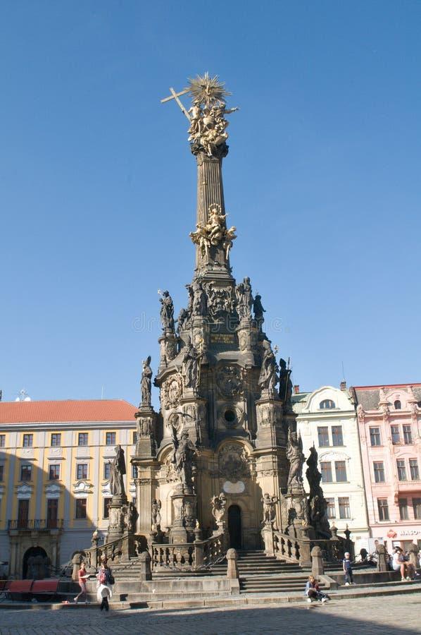 Fléau (pestilentiel) de trinité sainte dans Olomouc images stock