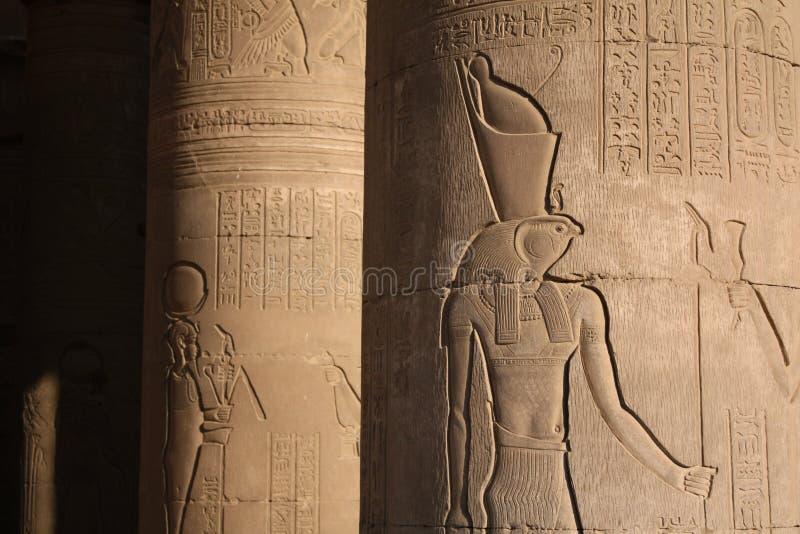 Fléaux égyptiens de temple photographie stock libre de droits
