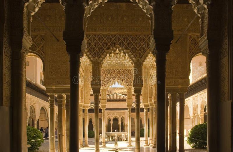 Fléaux d'Alhambra photo libre de droits