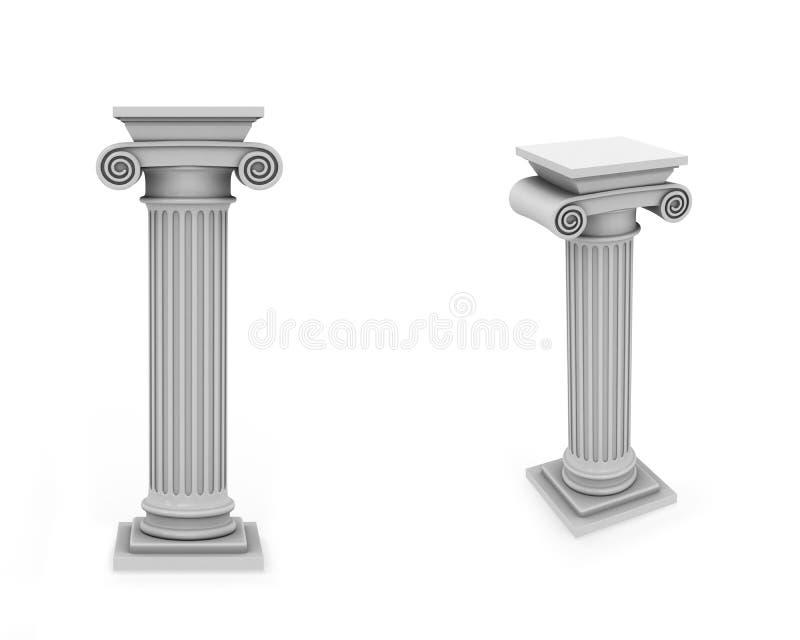 Fléaux de marbre deux vues illustration libre de droits