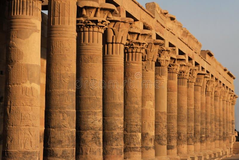 Fléaux de temple de Philae image libre de droits