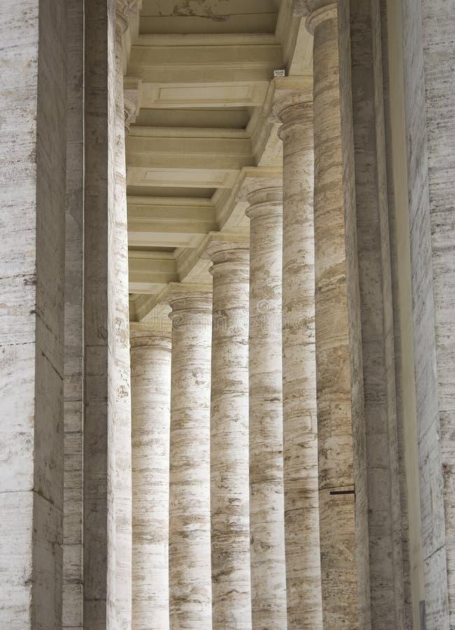 Fléaux de Vatican de Bernini - Rome photo stock