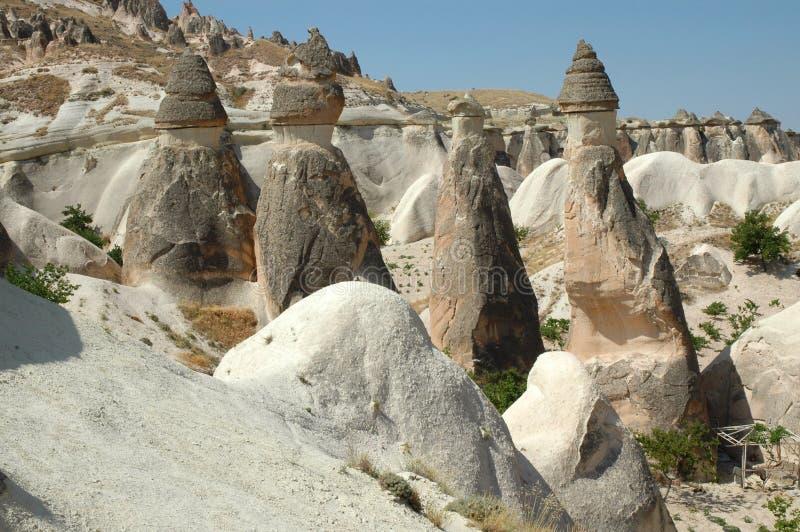 Fléaux en pierre dans Cappadocia, Turquie image libre de droits