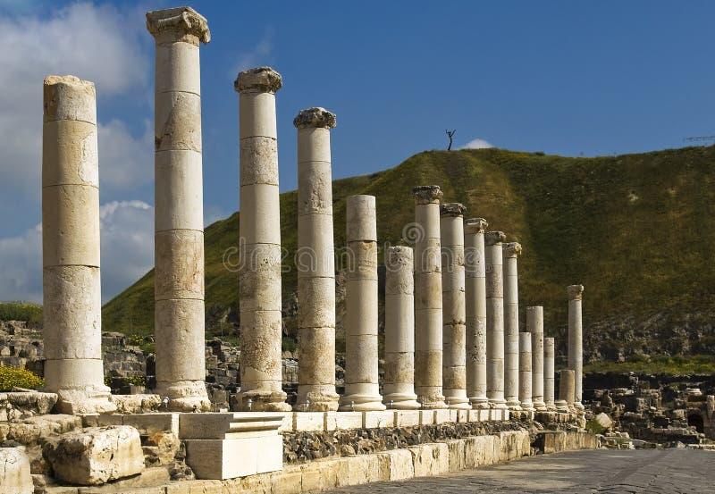 Fléaux romains en Israël Beit Shean photographie stock libre de droits