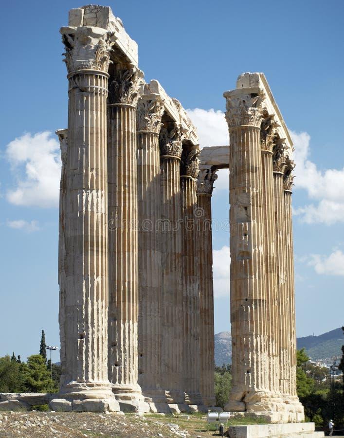 Fléaux, temple de Zeus olympique photo stock