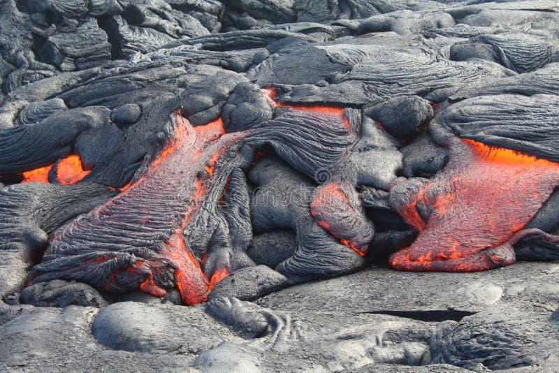 Flödande bana för lava` s royaltyfri bild