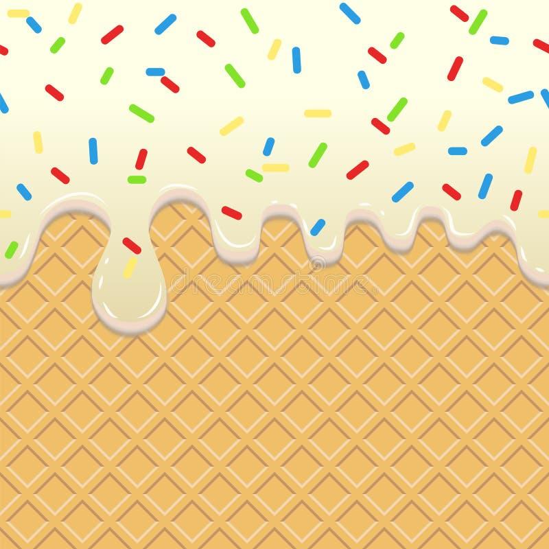 Flödande glass på dillanden vektor illustrationer