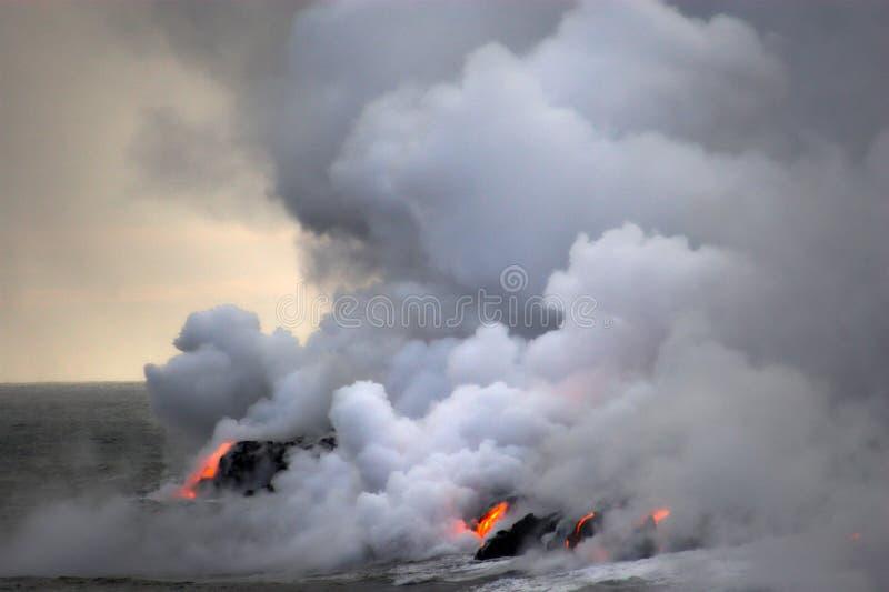 flödande lavahav arkivfoton