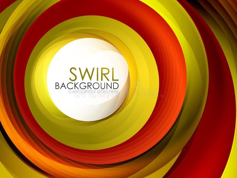 Flödande linjer bakgrund för spiral virvel för 3d-effektabstrakt begrepp stock illustrationer