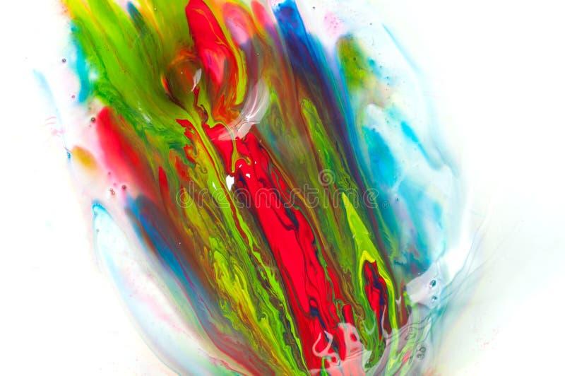 Flödande målarfärg arkivbilder