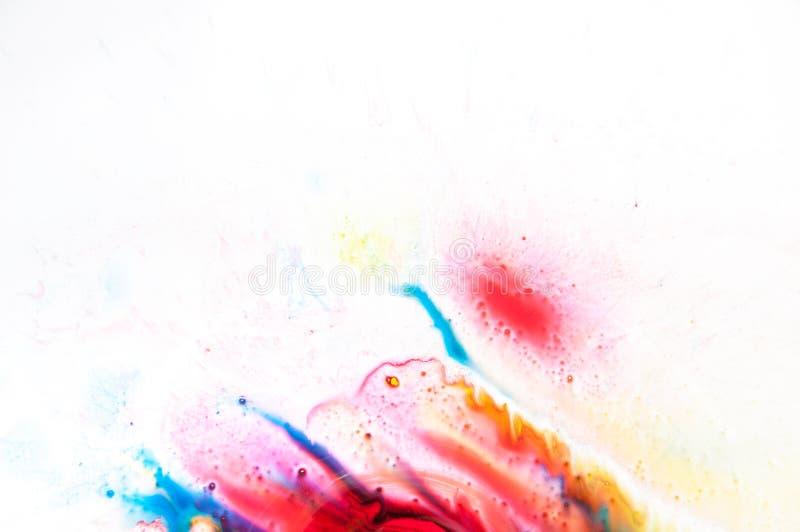 Flödande målarfärg royaltyfri bild