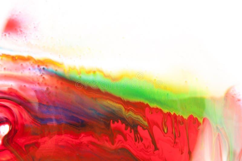 Flödande målarfärg fotografering för bildbyråer
