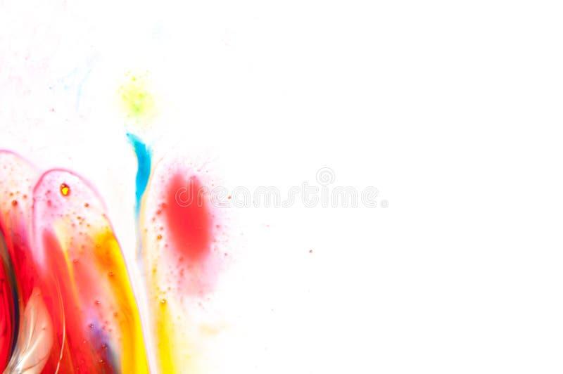 Flödande målarfärg royaltyfri foto