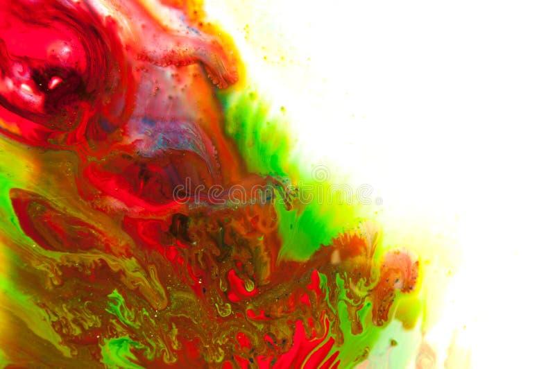 Flödande målarfärg royaltyfri fotografi