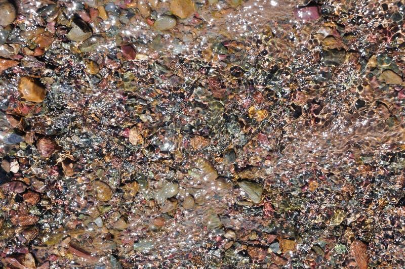 Flödande textur för vatten arkivbilder