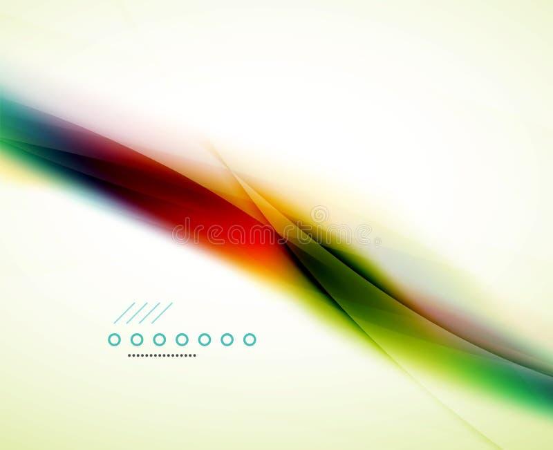 Flödande våg för regnbåge vektor illustrationer