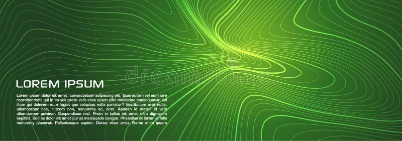 Fl?dar gr?na abstrakta linjer f?r vektor v?tskebakgrund Kan anv?ndas f?r affischer, r?kningar och plakat royaltyfri illustrationer