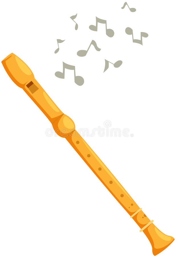 Flöte stock abbildung