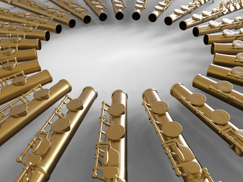 Flöten, die zusammen singen stock abbildung