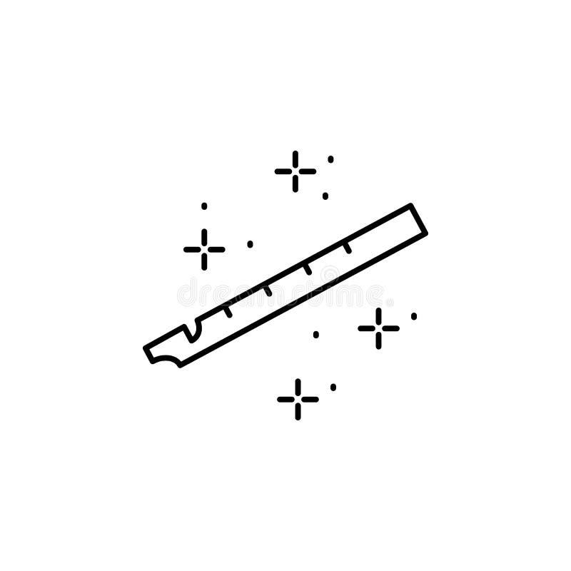 Flûte, icône de musique Élément de l'icône du festival d'octobre illustration libre de droits
