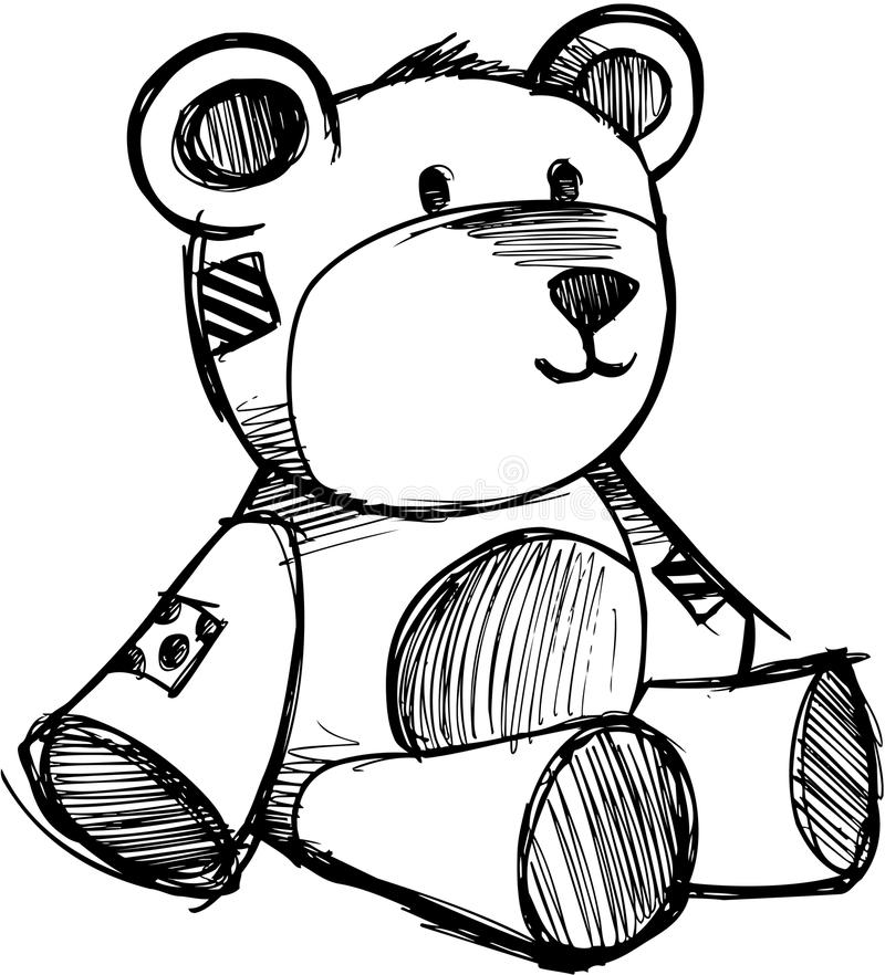 Flüchtiger Teddybär-Vektor lizenzfreie abbildung
