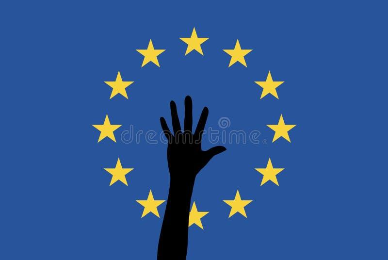 Flüchtlinge in der EU stock abbildung