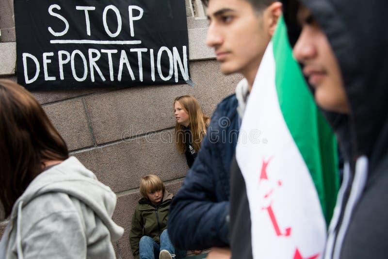 Flüchtlingsrechtsammlung stockfotografie