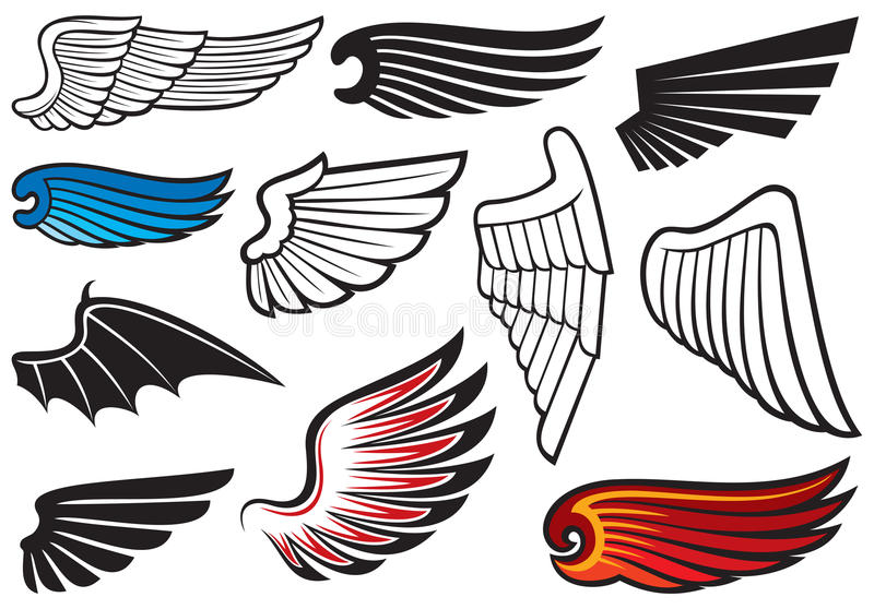 Flügel stock abbildung