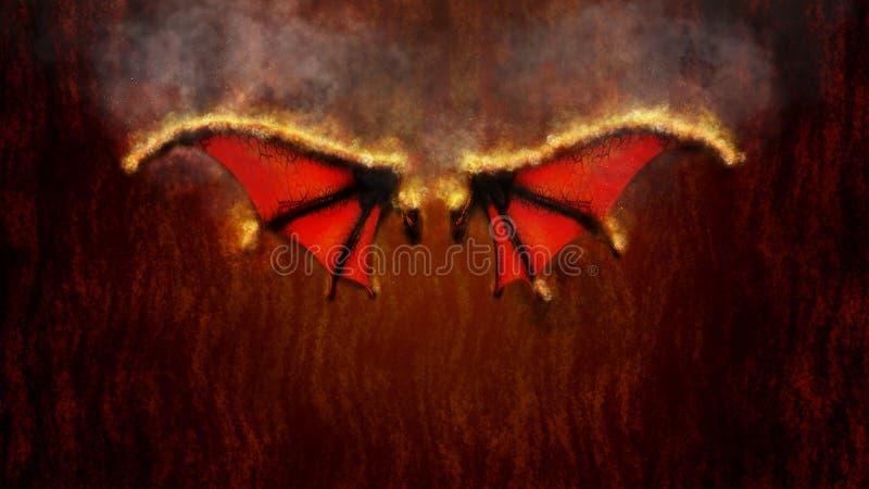 Flügel der Feuer-Illustration lizenzfreie abbildung