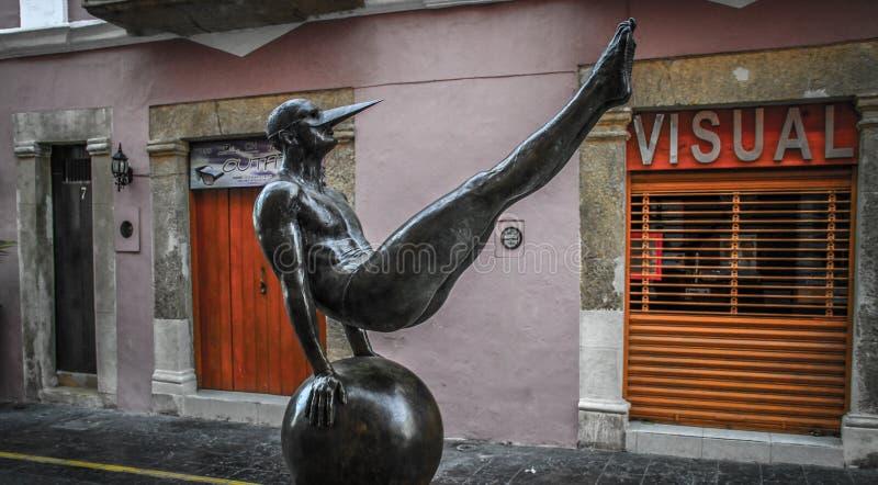Flügel der Stadt durch Jorge MarÃn, Skulptur-Ausstellung in den Straßen von Campeche, Campeche, Mexiko stockfotografie