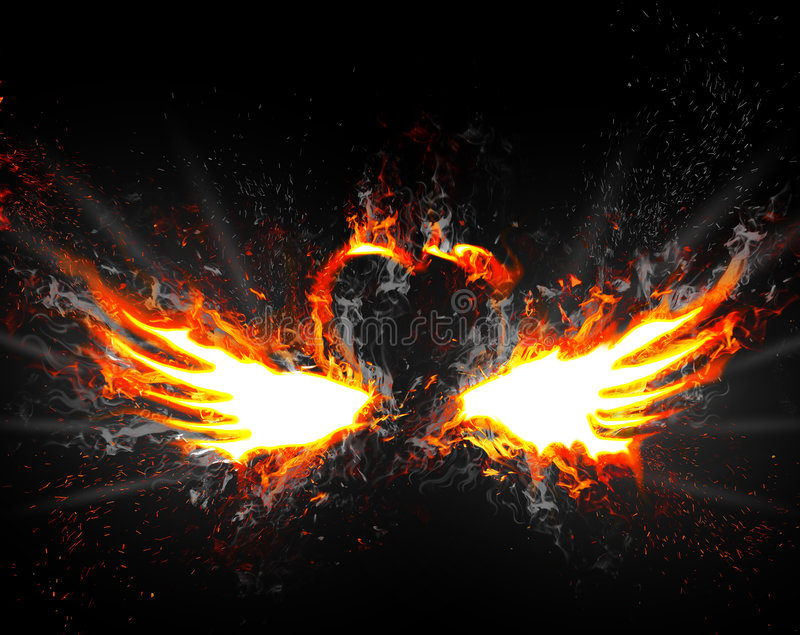 Flügel des Feuers lizenzfreie abbildung