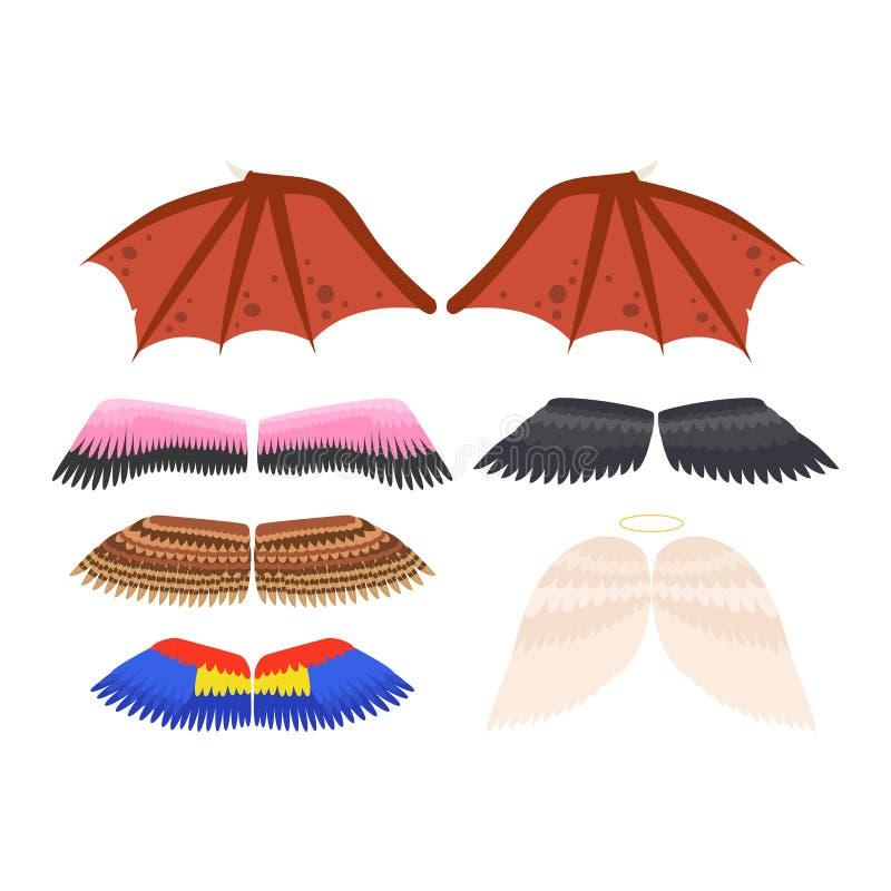 Flügel Lokalisierte Vektorillustration Vektor Abbildung ...