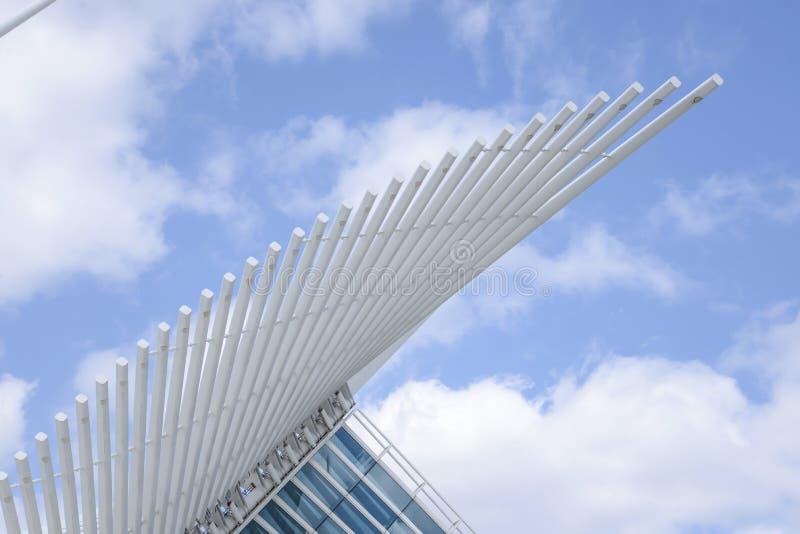 Flügel Milwaukee Art Museum stockfotos