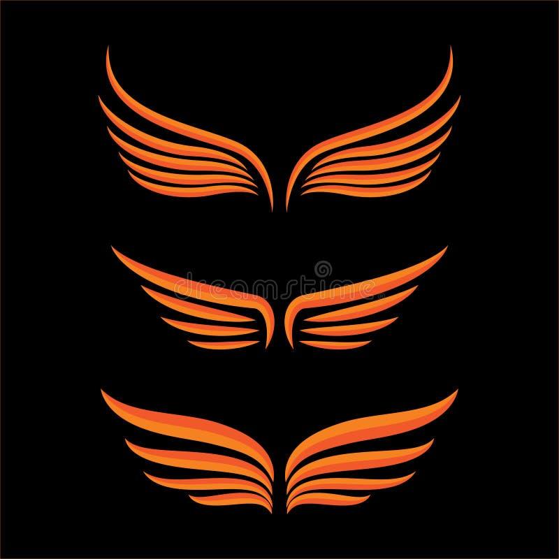 Flügelvogelsatz vektor abbildung