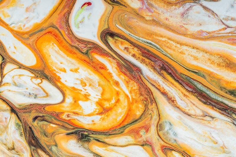 Flüssige abstrakte flüssige Kunstillustration Acrylfarbe auf canva stockfotos