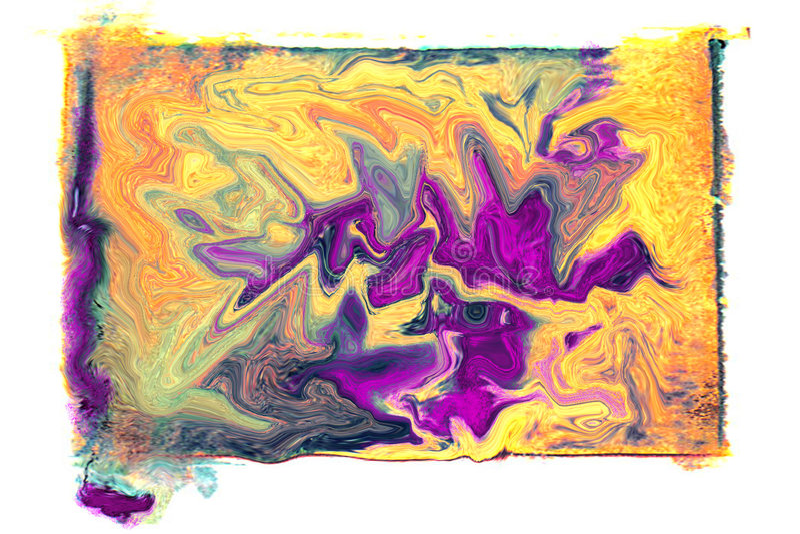 Flüssige Farben stock abbildung
