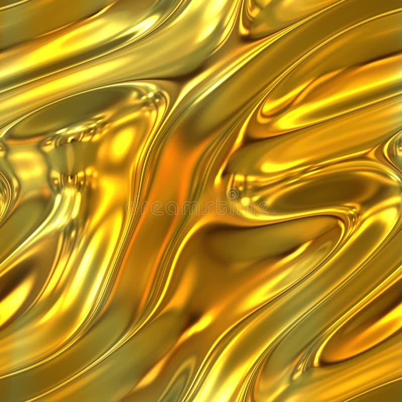 Flüssige Goldbeschaffenheit lizenzfreie abbildung