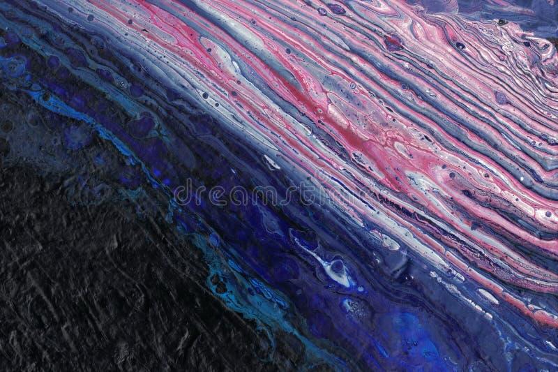 Flüssige Kunstgalaxie gemalt mit Acrylen stockbild