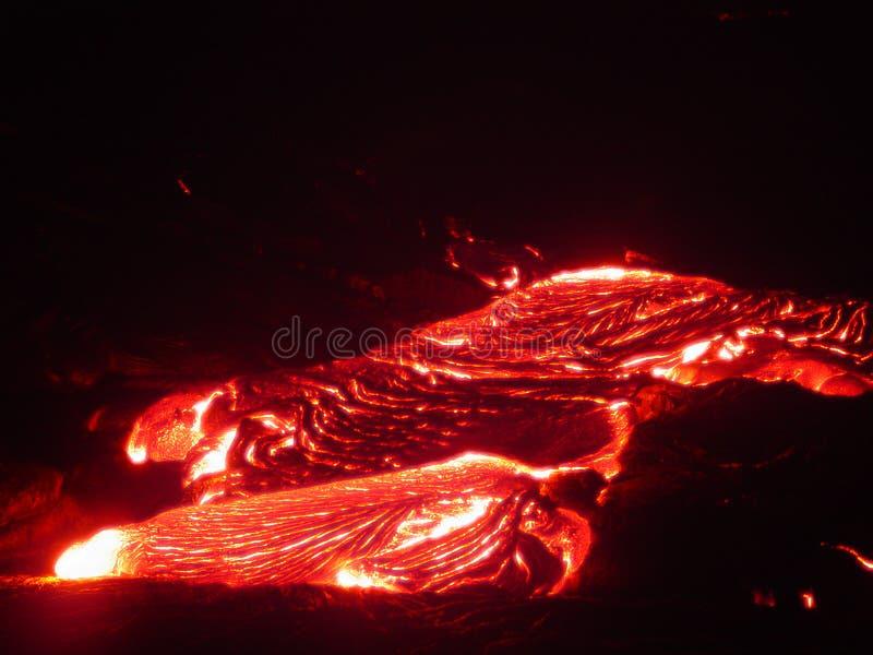 Flüssige Lava I lizenzfreie stockbilder