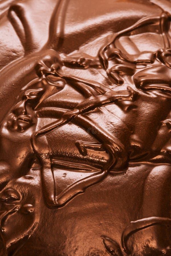 Flüssige Schokolade stockbild