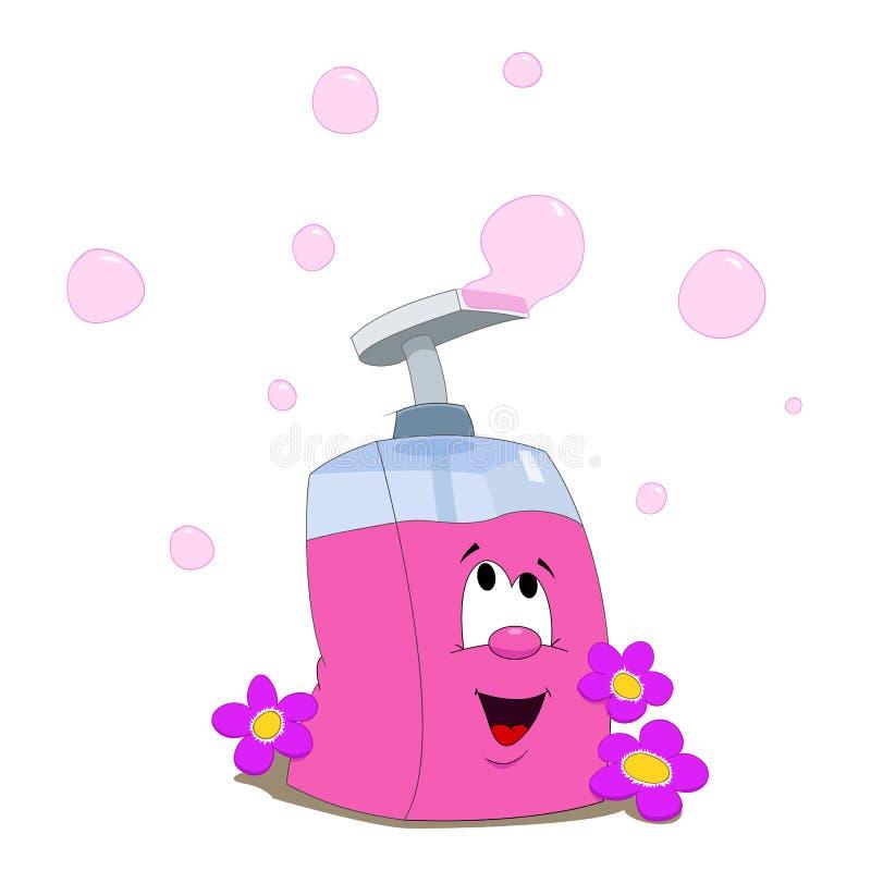 Download Flüssige Seife und Blumen vektor abbildung. Illustration von pumpe - 47101004