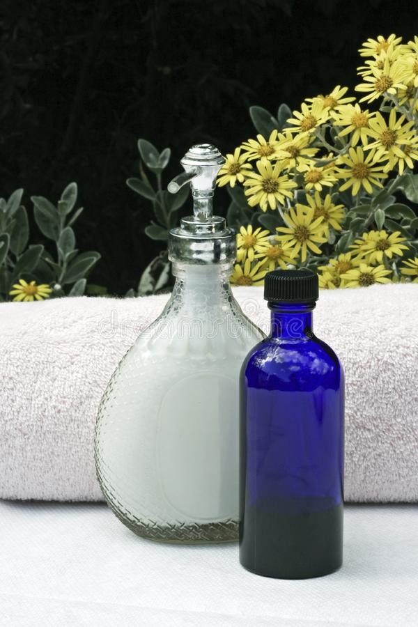 Flüssige Seife und Tücher