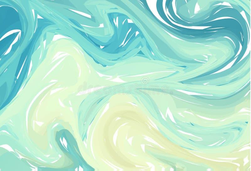 Flüssiger bunter Formhintergrund Blaue grüne modische Steigungen Flüssigkeit formt Zusammensetzung Abstrakter moderner flüssiger  lizenzfreie abbildung