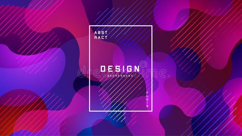 Flüssiger bunter Hintergrund der Steigung Flüssigkeit formt futuristisches Konzept Kreative geometrische Tapete Design f?r Fahnen stock abbildung