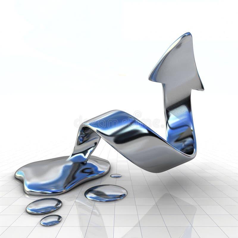 Flüssiger Finanznotfall stock abbildung