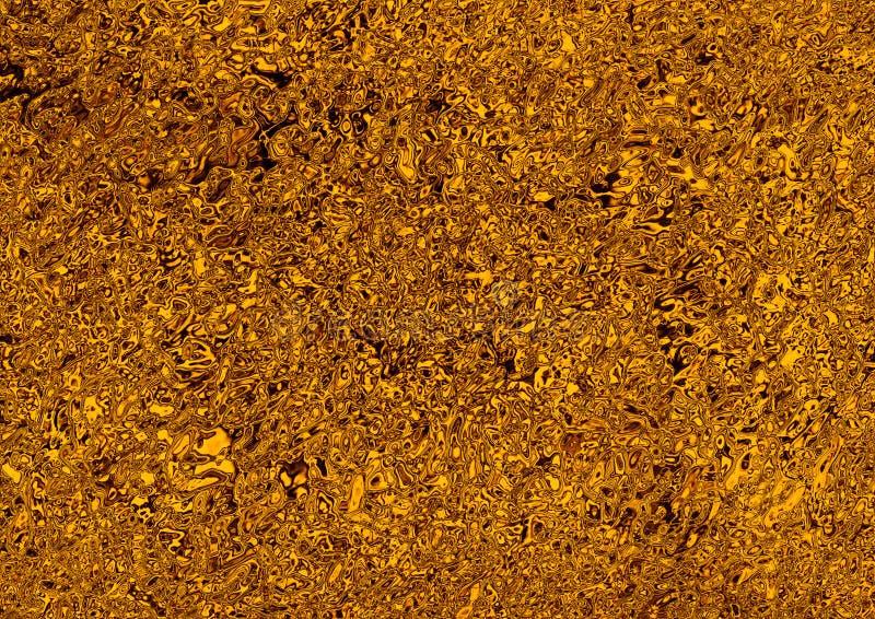 Flüssiger Goldzusammenfassungshintergrund lizenzfreie abbildung